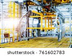 modern automobile production... | Shutterstock . vector #761602783