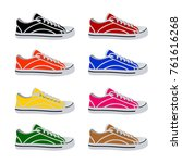 shoes in vector on white... | Shutterstock .eps vector #761616268