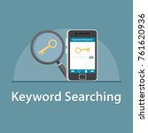 seo keyword searching in... | Shutterstock .eps vector #761620936
