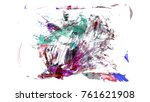 brush stroke and texture. smear ... | Shutterstock . vector #761621908