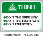think.do it the safe way.do it... | Shutterstock .eps vector #761622436