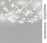 christmas lights isolated on... | Shutterstock .eps vector #761622964