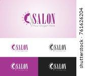 beauty salon logo   Shutterstock .eps vector #761626204