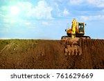 A Large Construction Excavator...