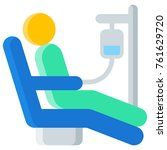 chemotherapy flat icon. vector... | Shutterstock .eps vector #761629720