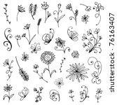Sketch Of Floral Elements For...