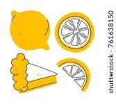 vector illustration of lemon...   Shutterstock .eps vector #761638150