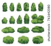 natural bush vector | Shutterstock .eps vector #761642080