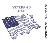 veterans day poster with... | Shutterstock .eps vector #761646520
