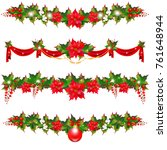 christmas garland with... | Shutterstock . vector #761648944