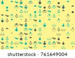 christmas pattern with... | Shutterstock .eps vector #761649004