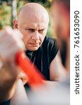 knife threat. kapap instructor... | Shutterstock . vector #761653090