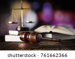 Gavel  Scales  Open Book On...