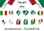 italy complete set. vector... | Shutterstock .eps vector #761668726