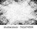 grunge black and white pattern. ... | Shutterstock . vector #761674504