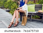 tropical and travel concept.... | Shutterstock . vector #761675710