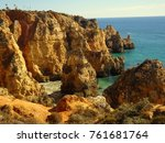 algarve at lagos portugal | Shutterstock . vector #761681764