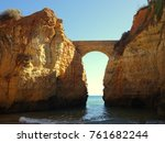 algarve at lagos portugal | Shutterstock . vector #761682244