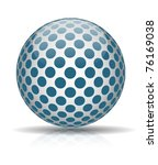 abstract ball with blue circles ... | Shutterstock . vector #76169038