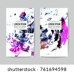 set of vector business card... | Shutterstock .eps vector #761694598