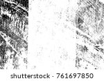 grunge black and white pattern. ... | Shutterstock . vector #761697850