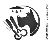 hairdresser for dogs and cats... | Shutterstock .eps vector #761698540