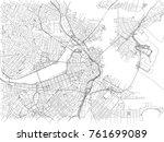 streets of boston  city map ...   Shutterstock .eps vector #761699089