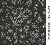 floral ornament sketch ... | Shutterstock .eps vector #76170196