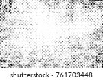 grunge black and white pattern. ... | Shutterstock . vector #761703448