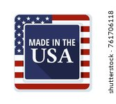 made in usa illustration | Shutterstock .eps vector #761706118