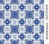 traditional ornate portuguese...   Shutterstock .eps vector #761707429