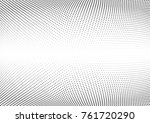 abstract halftone wave dotted... | Shutterstock .eps vector #761720290