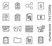 thin line icon set   search...   Shutterstock .eps vector #761722006