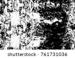 grunge black and white pattern. ... | Shutterstock . vector #761731036