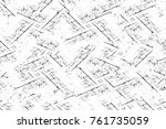 grunge black and white pattern. ... | Shutterstock . vector #761735059