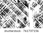 grunge black and white pattern. ... | Shutterstock . vector #761737156