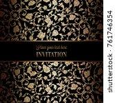 vintage baroque wedding... | Shutterstock .eps vector #761746354