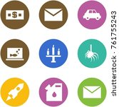 origami corner style icon set   ... | Shutterstock .eps vector #761755243