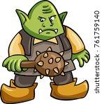 ogre monster character... | Shutterstock .eps vector #761759140