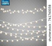 christmas lights isolated on... | Shutterstock .eps vector #761760058