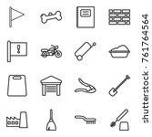 Thin Line Icon Set   Flag  Bon...