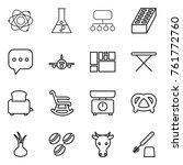 thin line icon set   atom ...