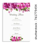 wedding menu card design ... | Shutterstock .eps vector #761775454