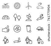 thin line icon set   bio  sun...   Shutterstock .eps vector #761775904