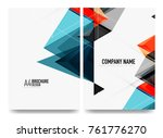 business brochure cover layout  ... | Shutterstock .eps vector #761776270