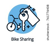 bike sharing  share economy for ... | Shutterstock .eps vector #761776408