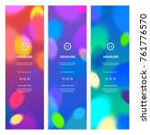 bright colorful banners with