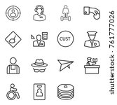 thin line icon set   target... | Shutterstock .eps vector #761777026
