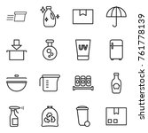 thin line icon set   delivery ... | Shutterstock .eps vector #761778139
