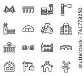 thin line icon set   bridge ... | Shutterstock .eps vector #761778250